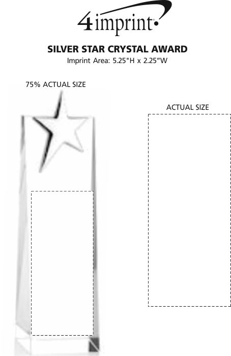Imprint Area of Silver Star Crystal Award
