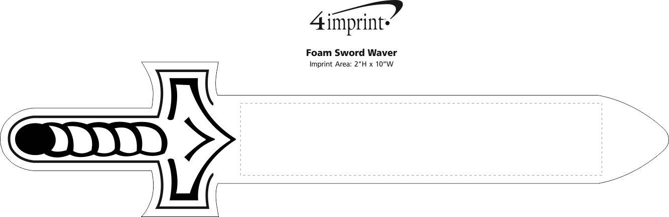 Imprint Area of Foam Sword Waver