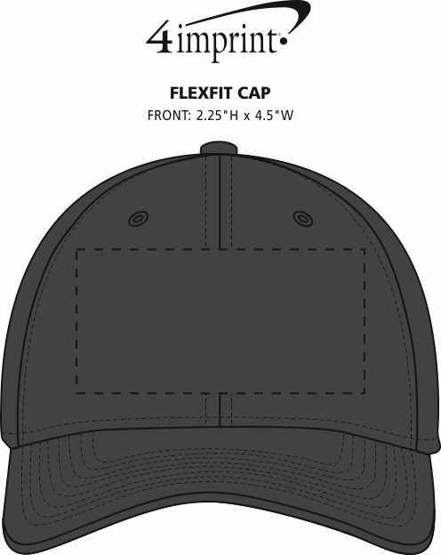 Imprint Area of Flexfit Cap