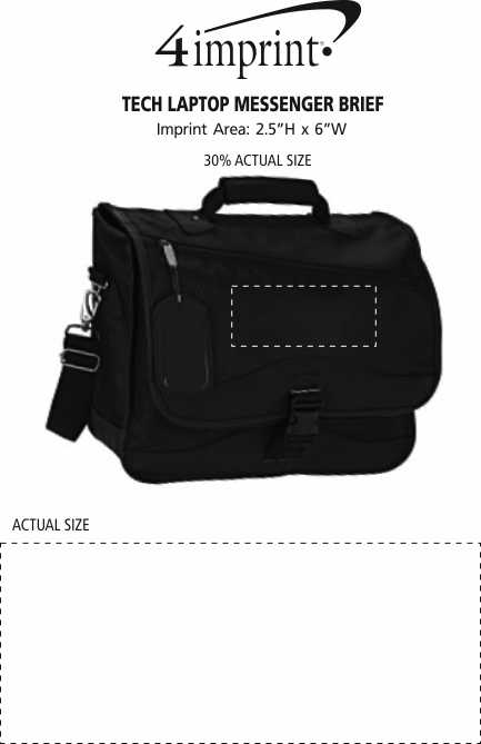 Imprint Area of Tech Laptop Messenger Brief