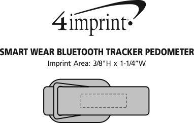 Imprint Area of Smart Wear Bluetooth Tracker Pedometer