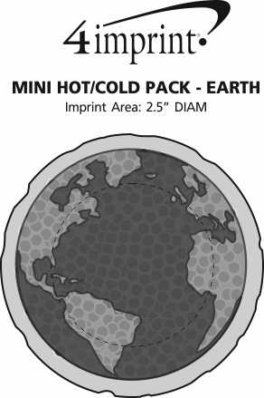 Imprint Area of Mini Hot/Cold Pack - Earth