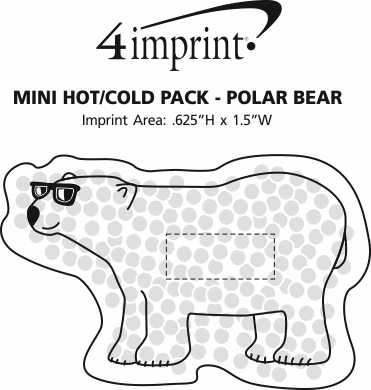 Imprint Area of Mini Hot/Cold Pack - Polar Bear