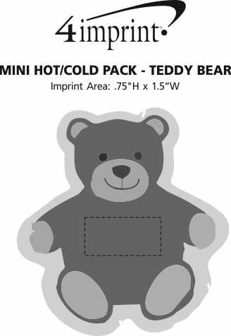 Imprint Area of Mini Hot/Cold Pack - Teddy Bear