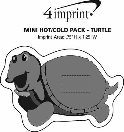 Imprint Area of Mini Hot/Cold Pack - Turtle
