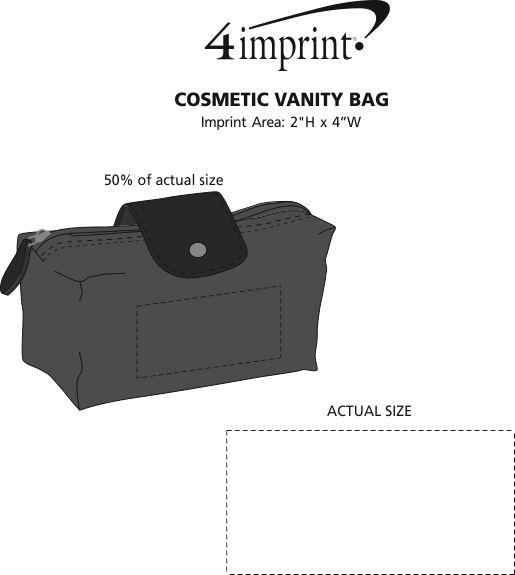 Imprint Area of Cosmetic Vanity Bag