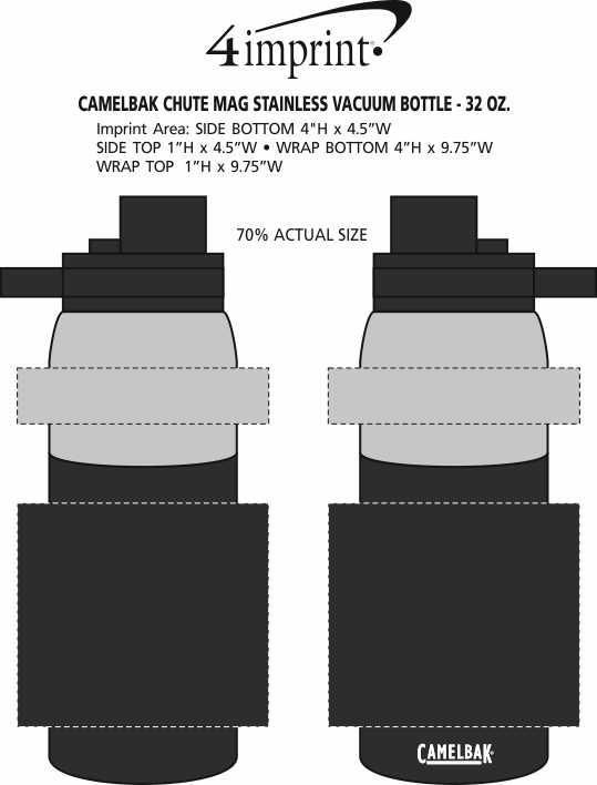 Imprint Area of CamelBak Chute Mag Stainless Vacuum Bottle - 32 oz.