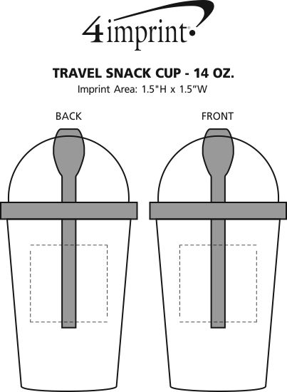 Imprint Area of Travel Snack Cup - 14 oz.