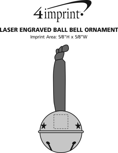 Imprint Area of Laser Engraved Ball Bell Ornament