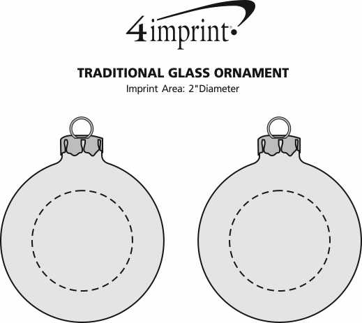 Imprint Area of Traditional Glass Ornament