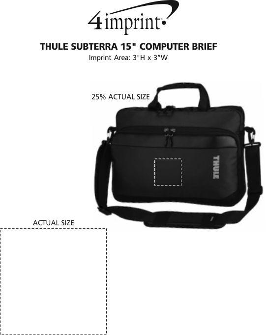 "Imprint Area of Thule Subterra 15"" Computer Brief"