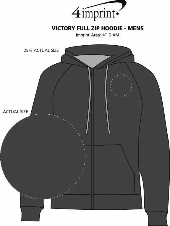 Imprint Area of Antigua Victory Full-Zip Hoodie - Men's