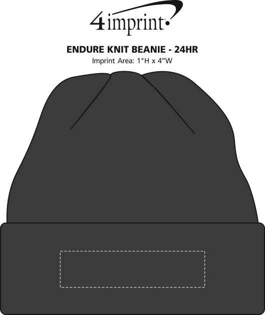 Imprint Area of Endure Knit Beanie - 24 hr