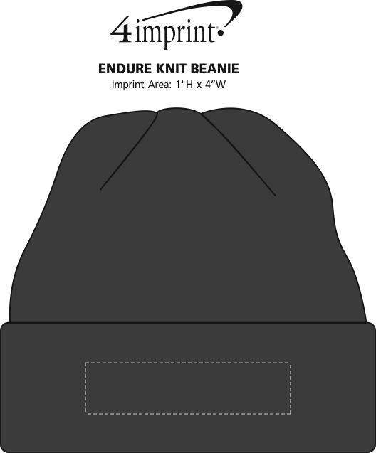 Imprint Area of Endure Knit Beanie