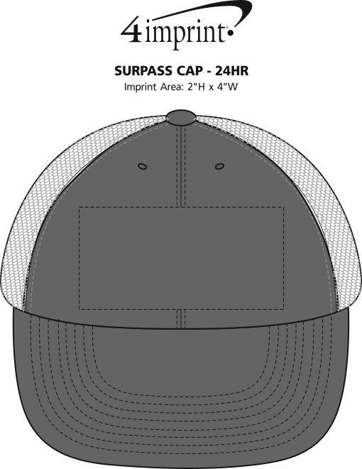 Imprint Area of Surpass Cap - 24 hr