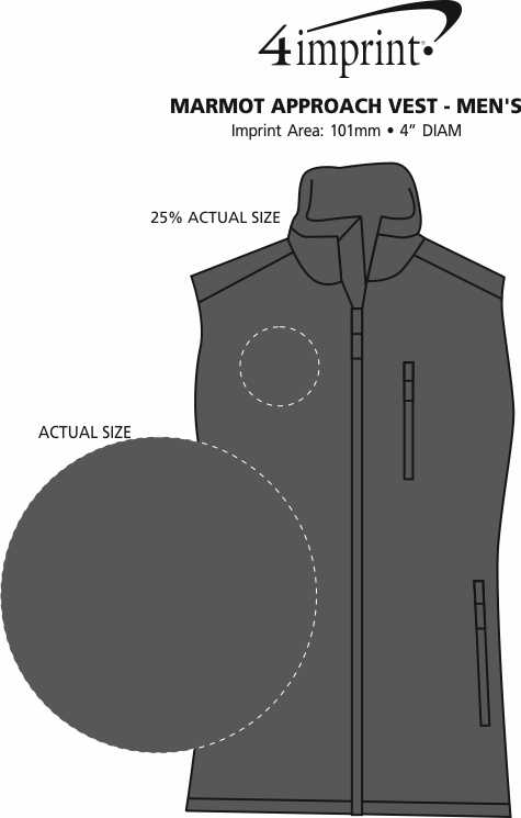 Imprint Area of Marmot Approach Vest - Men's