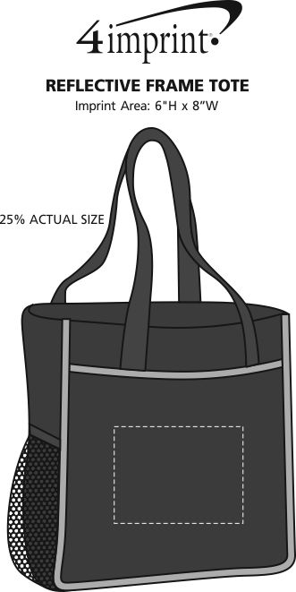 Imprint Area of Reflective Frame Tote