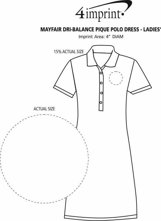 Imprint Area of Mayfair Dri-Balance Pique Polo Dress - Ladies'