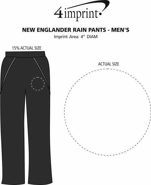 Imprint Area of New Englander Rain Pants - Men's