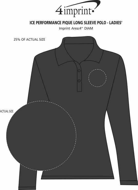 Imprint Area of Ice Performance Pique Long Sleeve Polo - Ladies'