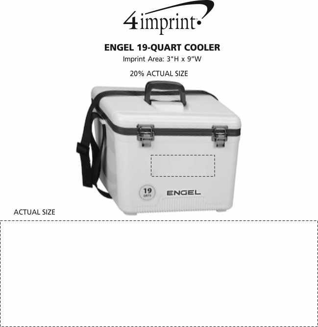 Imprint Area of Engel 19-Quart Cooler
