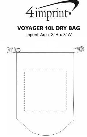 Imprint Area of Voyager 10L Dry Bag
