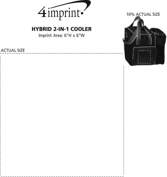 Imprint Area of Hybrid 2-in-1 Cooler