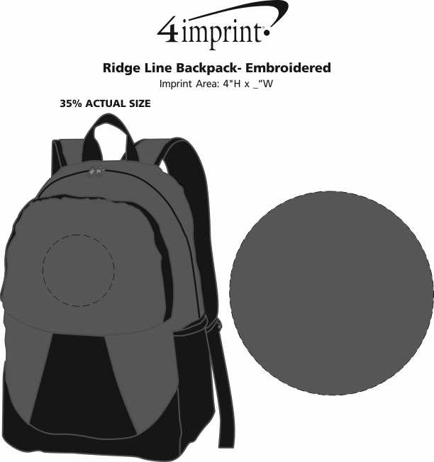 Imprint Area of Ridge Line Backpack - Embroidered