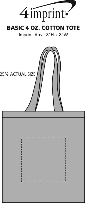Imprint Area of Basic 5 oz. Cotton Tote