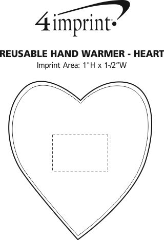 Imprint Area of Reusable Hand Warmer - Heart