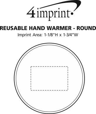 Imprint Area of Reusable Hand Warmer - Round