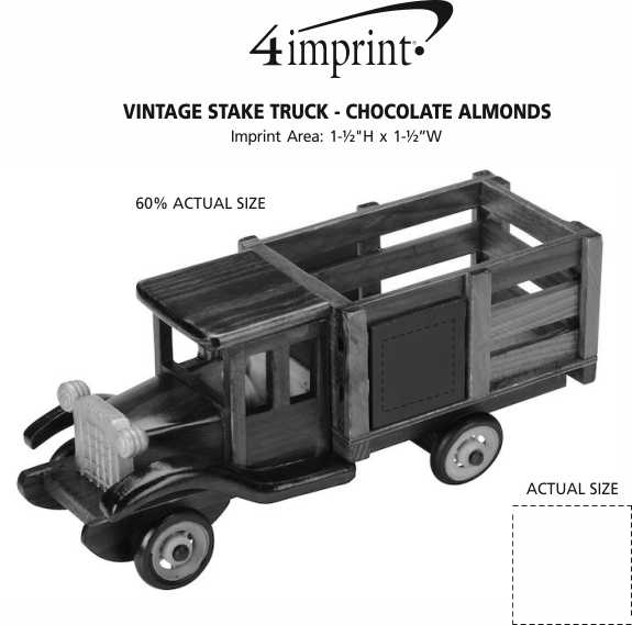 Imprint Area of Vintage Stake Truck - Chocolate Almonds