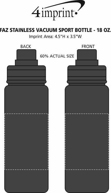 Imprint Area of Faz Stainless Vacuum Sport Bottle - 18 oz.
