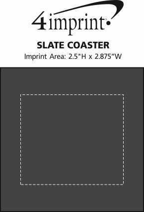 Imprint Area of Slate Coaster
