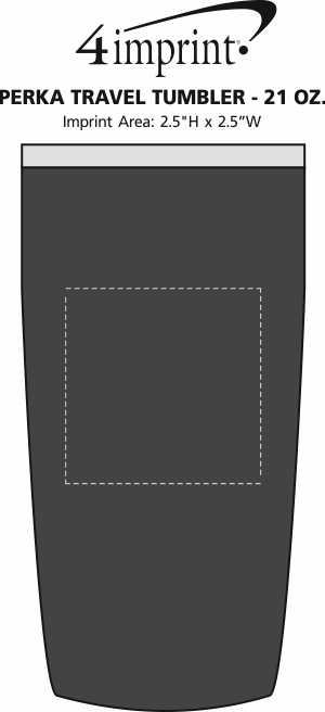 Imprint Area of Perka Vacuum Travel Tumbler - 21 oz.