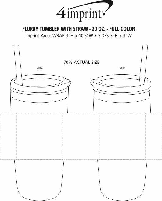 Imprint Area of Flurry Tumbler with Straw - 20 oz. - Full Color