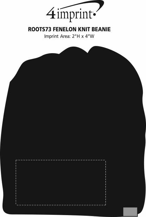 Imprint Area of Roots73 Fenelon Knit Beanie - 24 hr