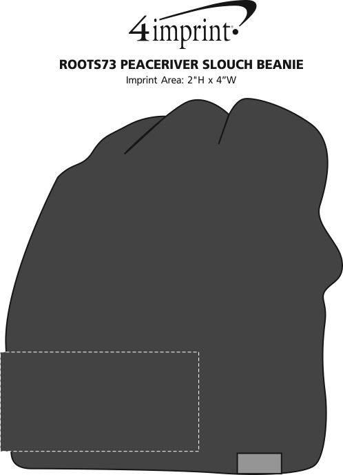 Imprint Area of Roots73 PeaceRiver Slouch Beanie