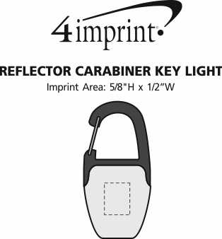 Imprint Area of Reflector Carabiner Key Light