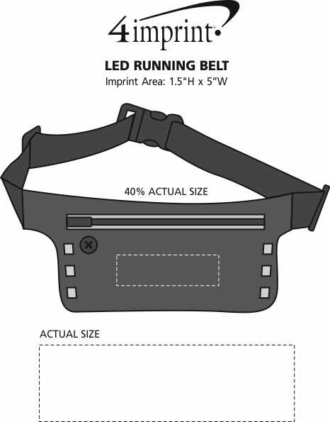 Imprint Area of LED Running Belt