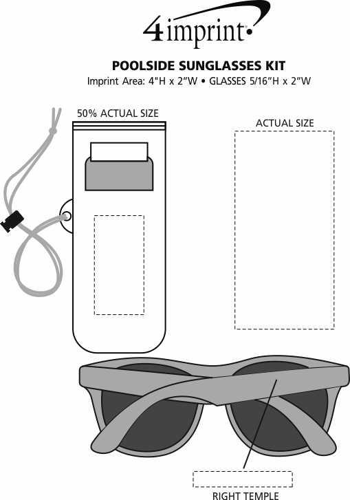 Imprint Area of Poolside Sunglasses Kit