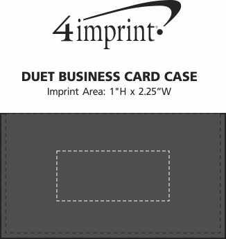 Imprint Area of Duet Business Card Case