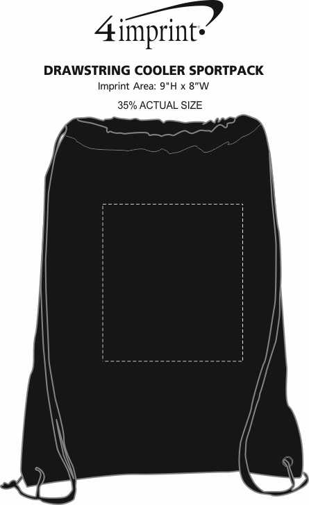 Imprint Area of Drawstring Cooler Sportpack