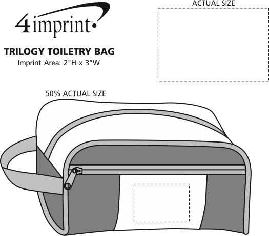 Imprint Area of Trilogy Toiletry Bag