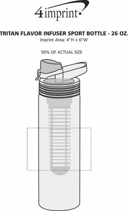 Imprint Area of Tritan Flavor Infuser Sport Bottle - 26 oz.
