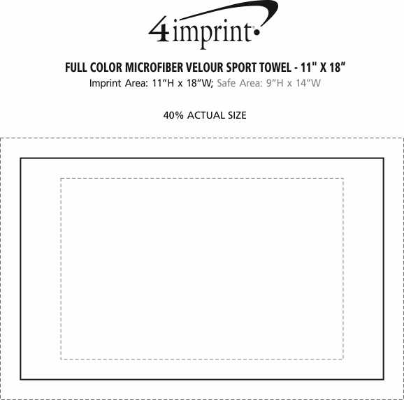 "Imprint Area of Full Color Microfiber Velour Sport Towel - 11"" x 18"""