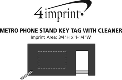Imprint Area of Metro Phone Stand Keychain with Cleaner