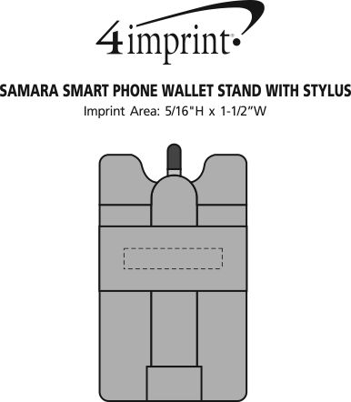 Imprint Area of Samara Smartphone Wallet Stand with Stylus
