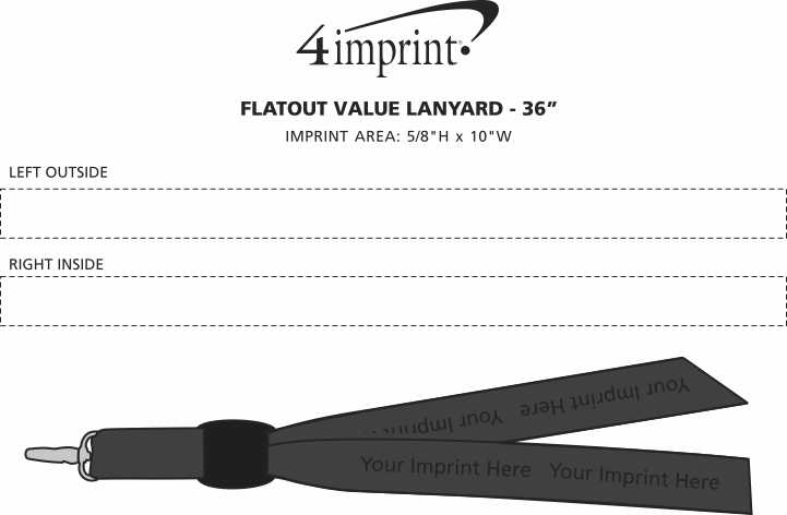 Imprint Area of Flatout Lanyard - 36""