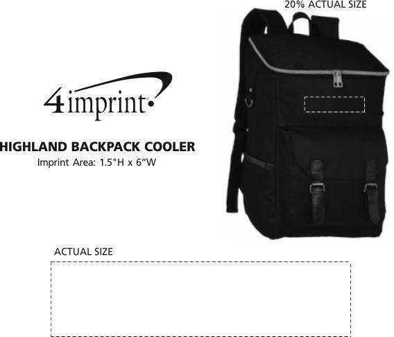 Imprint Area of Highland Backpack Cooler